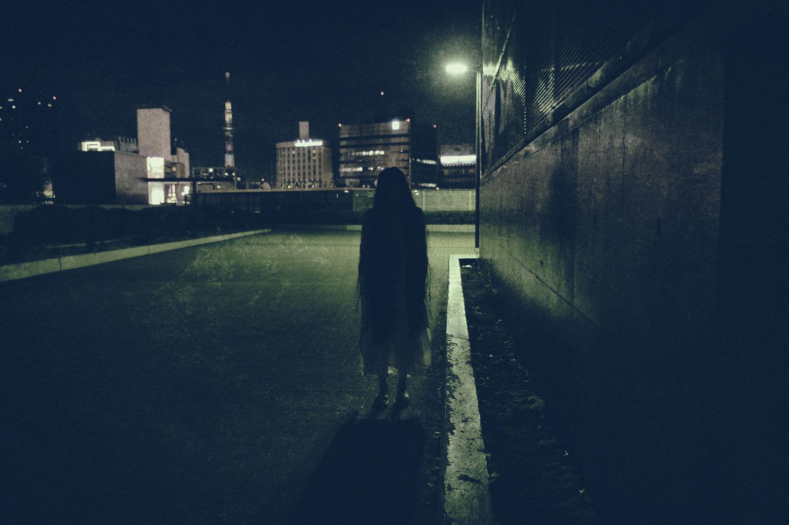 「道端で出会った女性の亡霊」の写真[モデル:緋真煉]