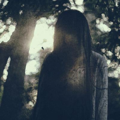 「暗い森の中で呪いをかけられた」の写真素材