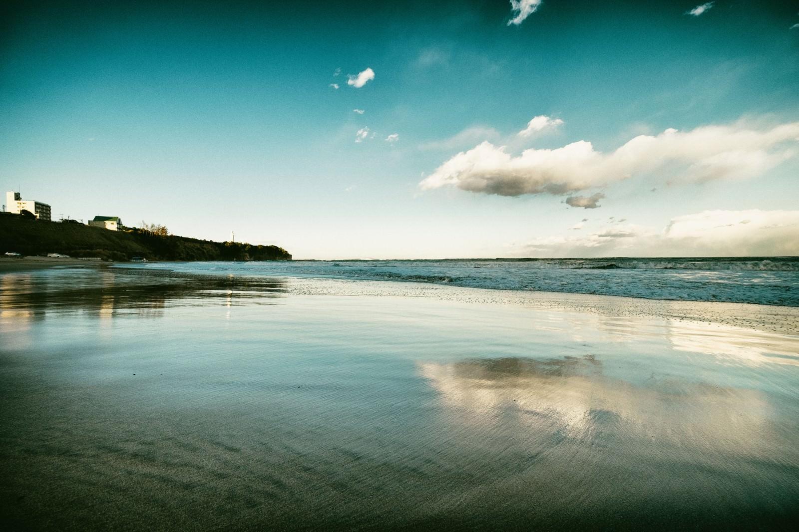 「波が引くように去っていく」の写真