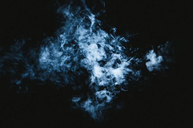 化け猫に見える煙の写真