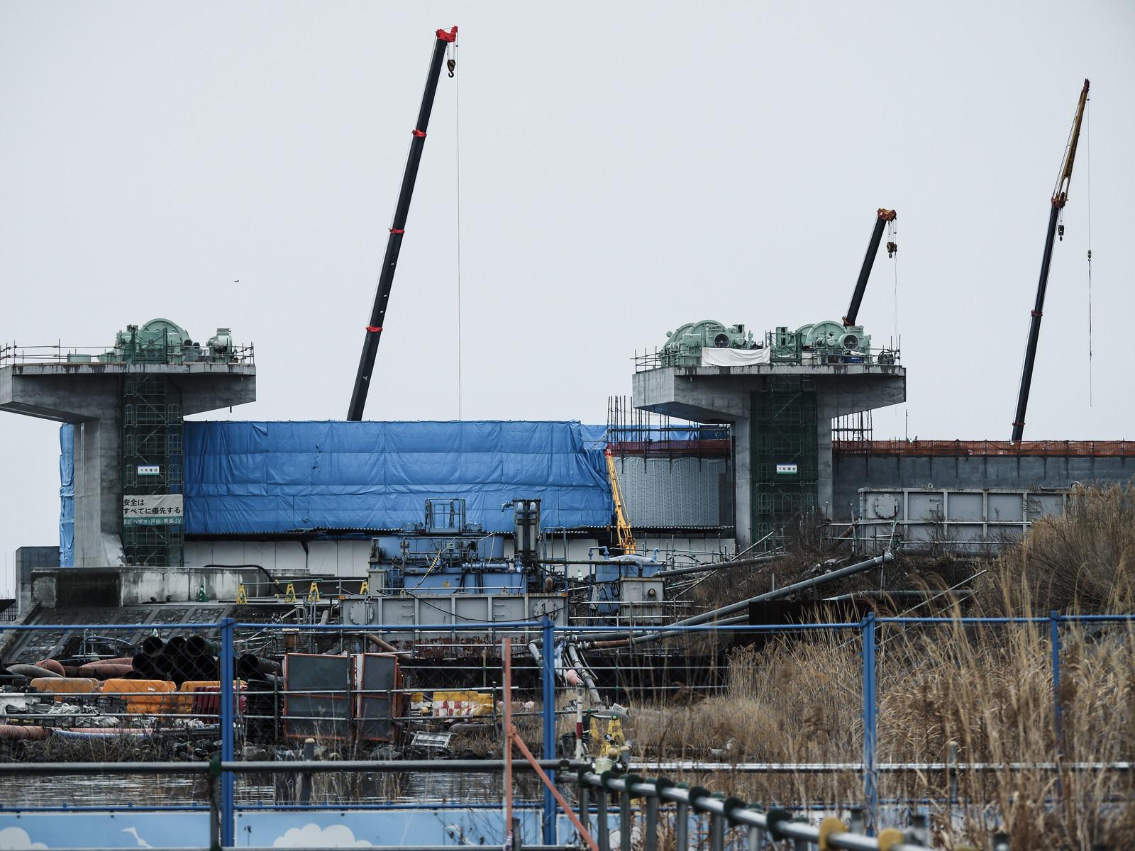 「気仙川に新設される水門」の写真