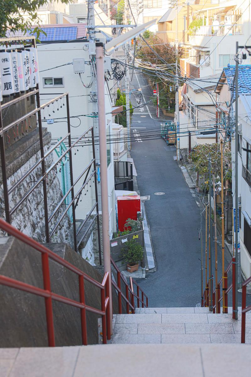 「須賀神社の下り階段」の写真