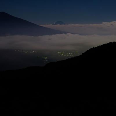 夕暮れ時の霧ヶ峰の写真