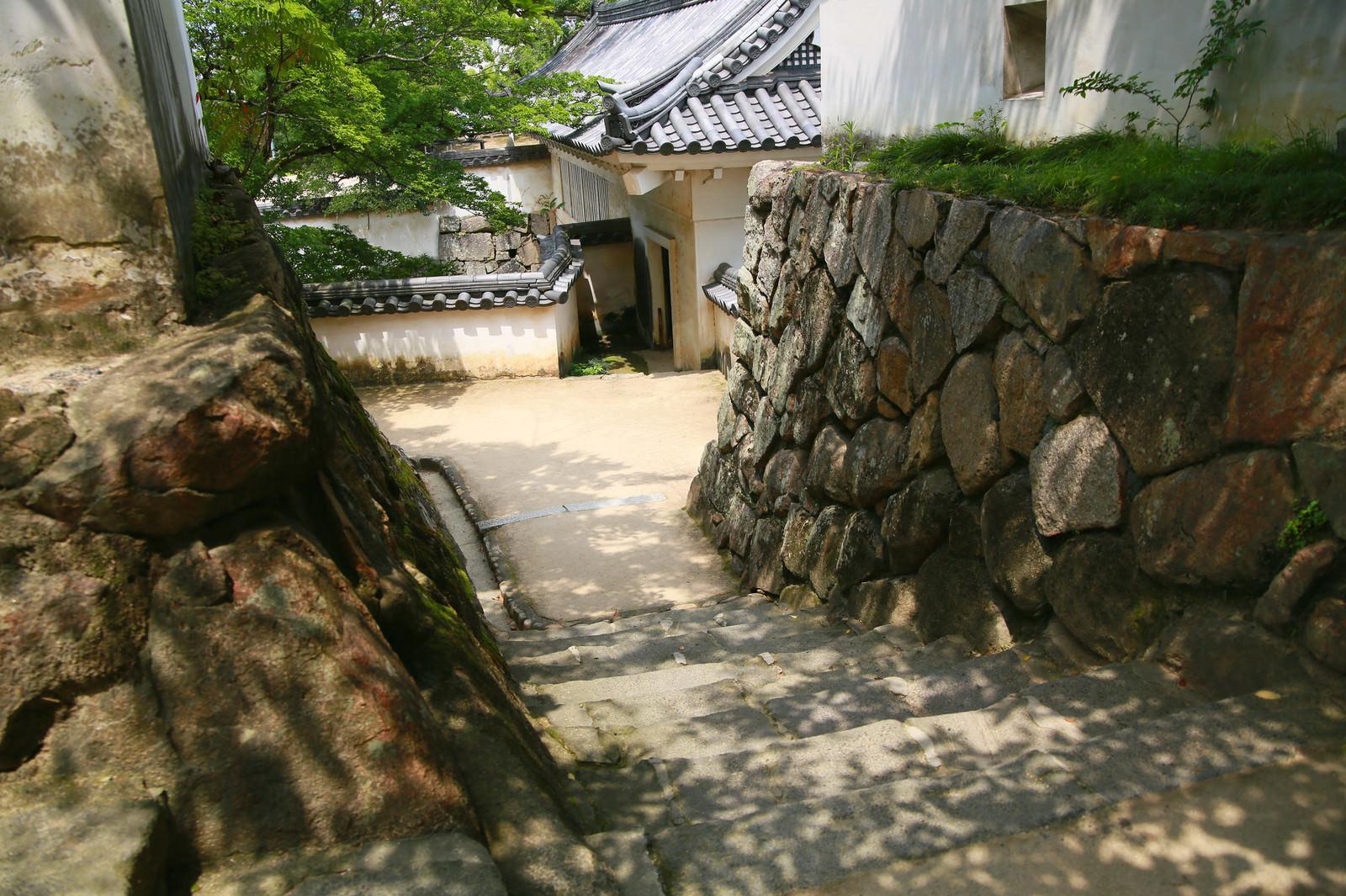 「岡山城内の石段」の写真