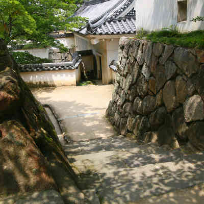 岡山城内の石段の写真