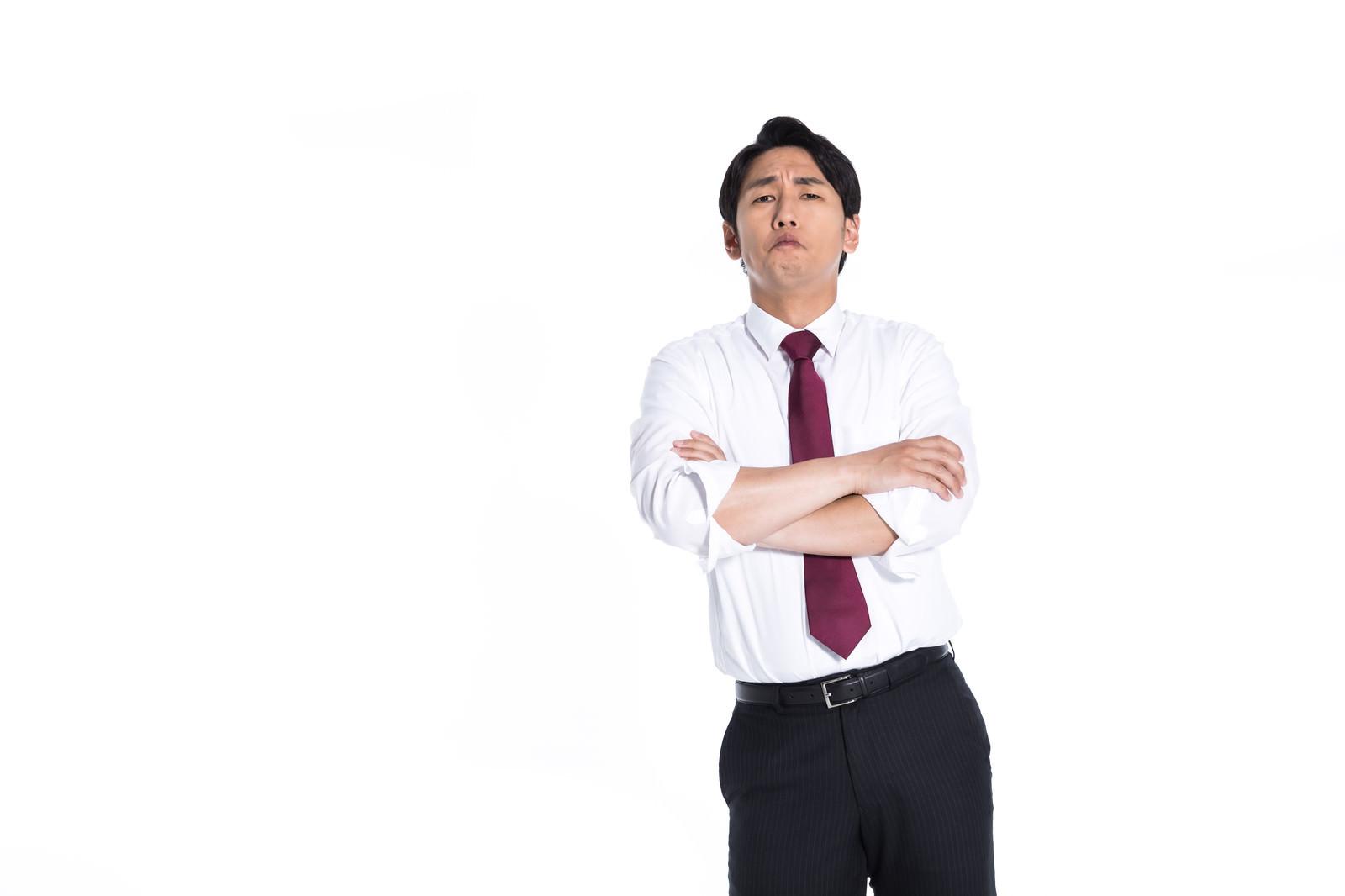 「マジ説教するとイキる先輩会社員」の写真[モデル:大川竜弥]