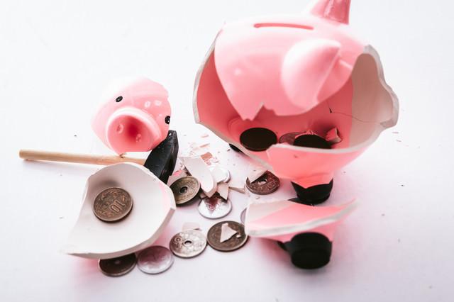貯金箱の中に入っていたのは小銭だけだったの写真