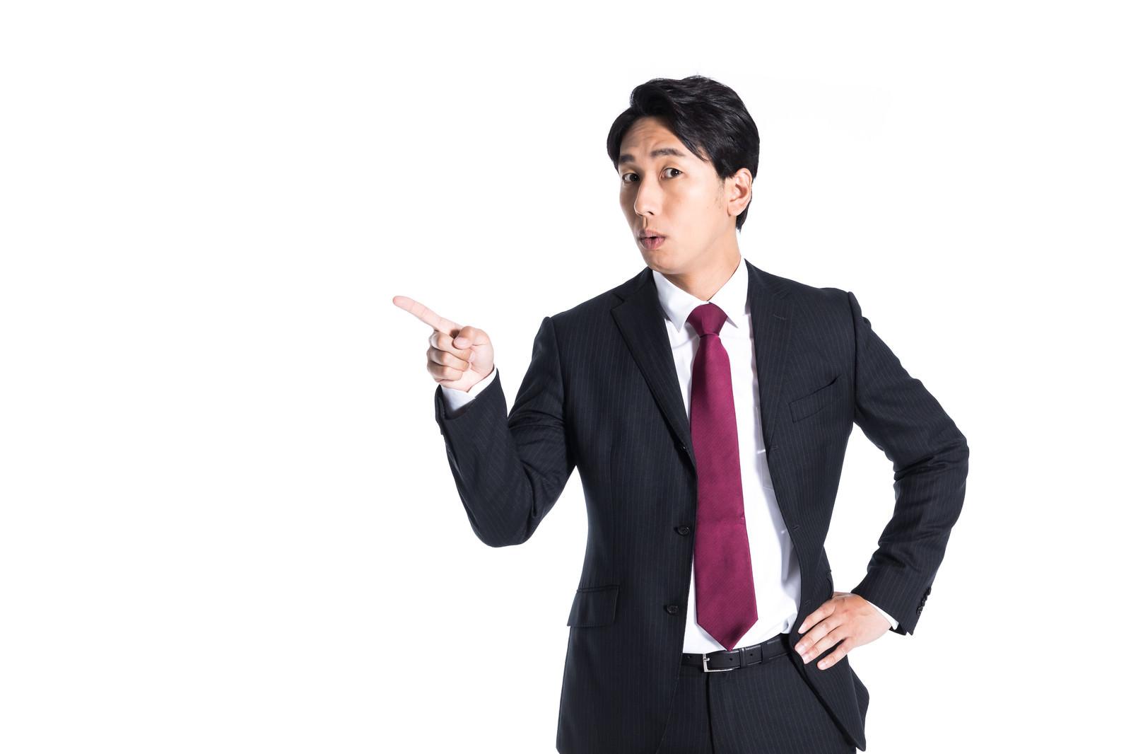 「デキるプレゼンター」の写真[モデル:大川竜弥]