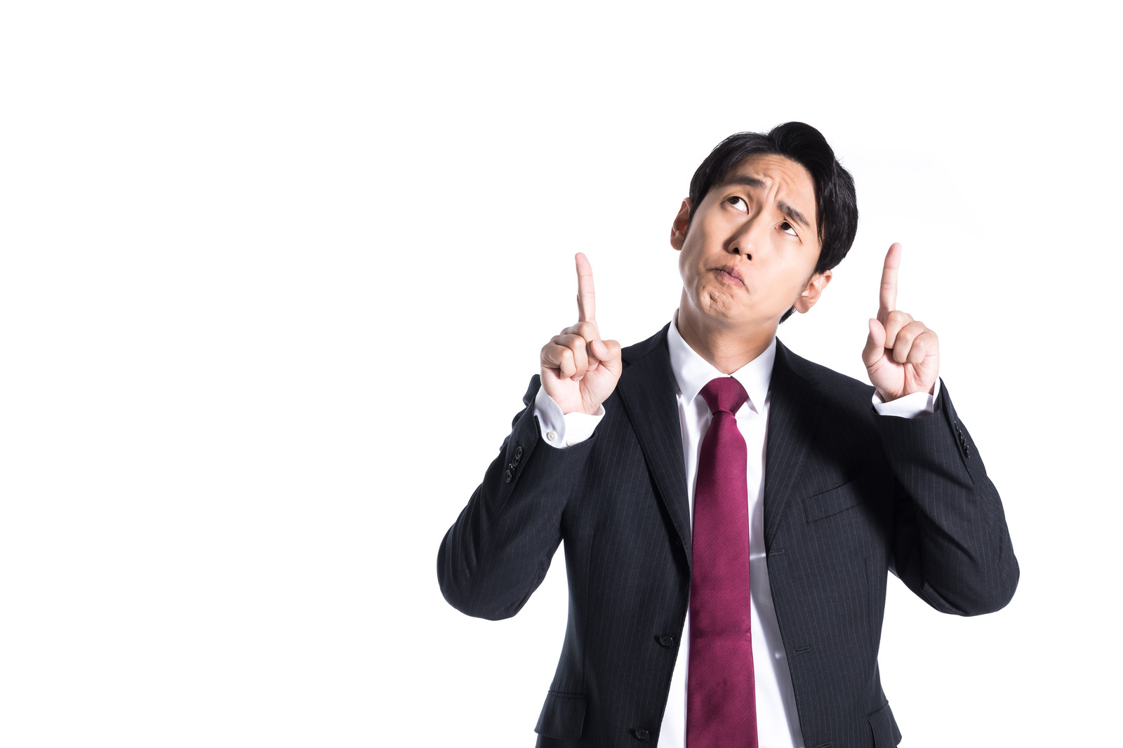 「成績アップを指示する上司」の写真[モデル:大川竜弥]