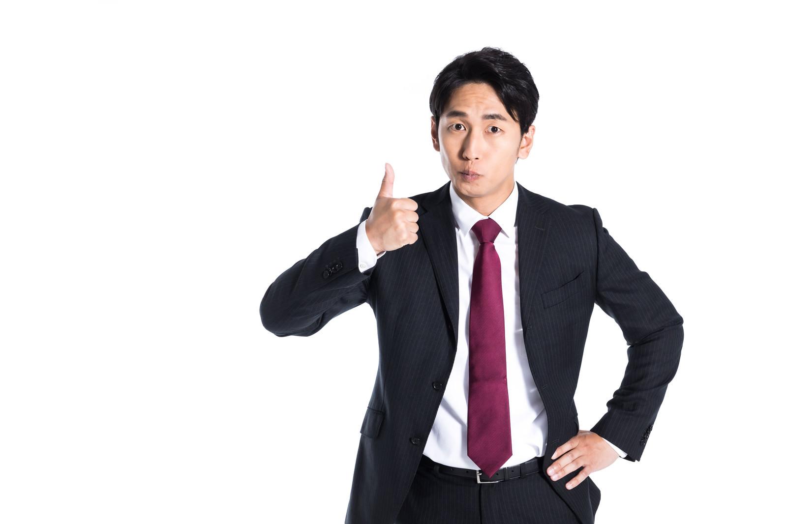 「社交辞令のグッジョブ社員」の写真[モデル:大川竜弥]