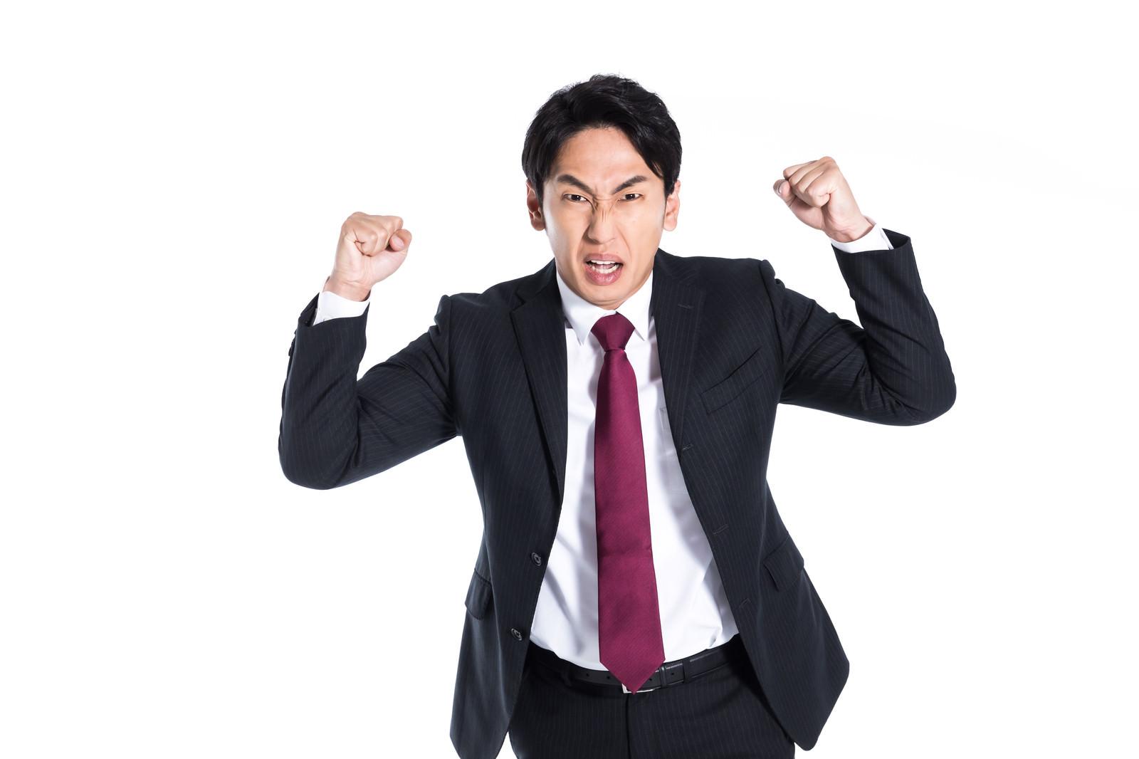 「不本意な評価で会社員は激怒した」の写真[モデル:大川竜弥]