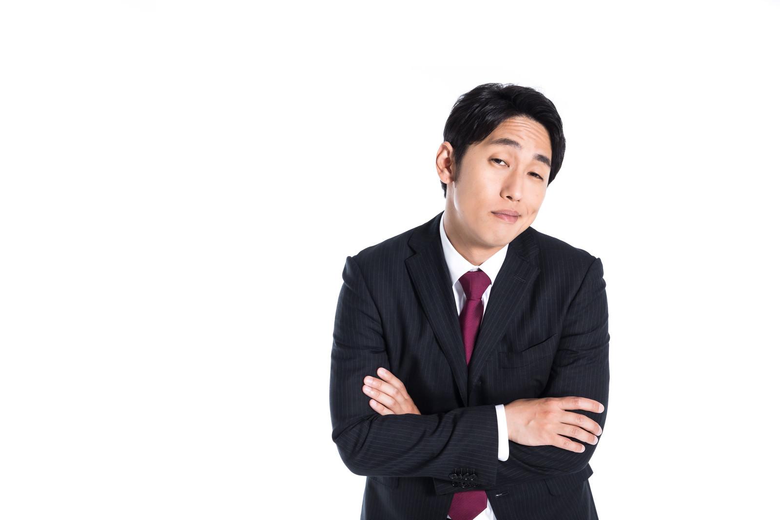「聞く耳を持たない上司」の写真[モデル:大川竜弥]