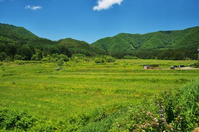 会津の里山風景の写真