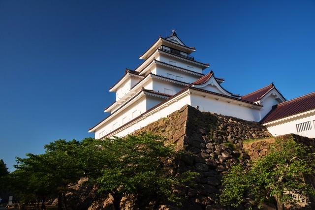 会津の鶴ケ城の写真