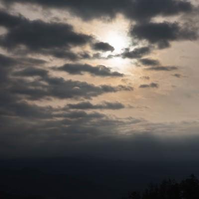 急変した空模様の写真