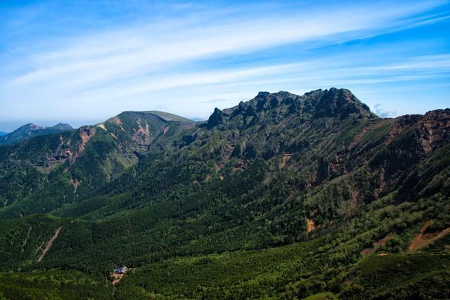 阿弥陀山頂から望む眺望の写真
