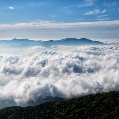 雲海に浮かぶ奥秩父山塊の写真
