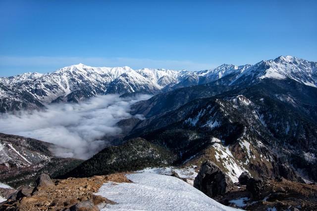 焼岳の大パノラマの写真