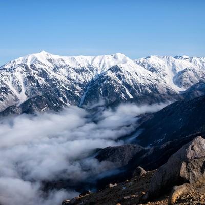 焼岳山頂の景色(笠ヶ岳方面)の写真