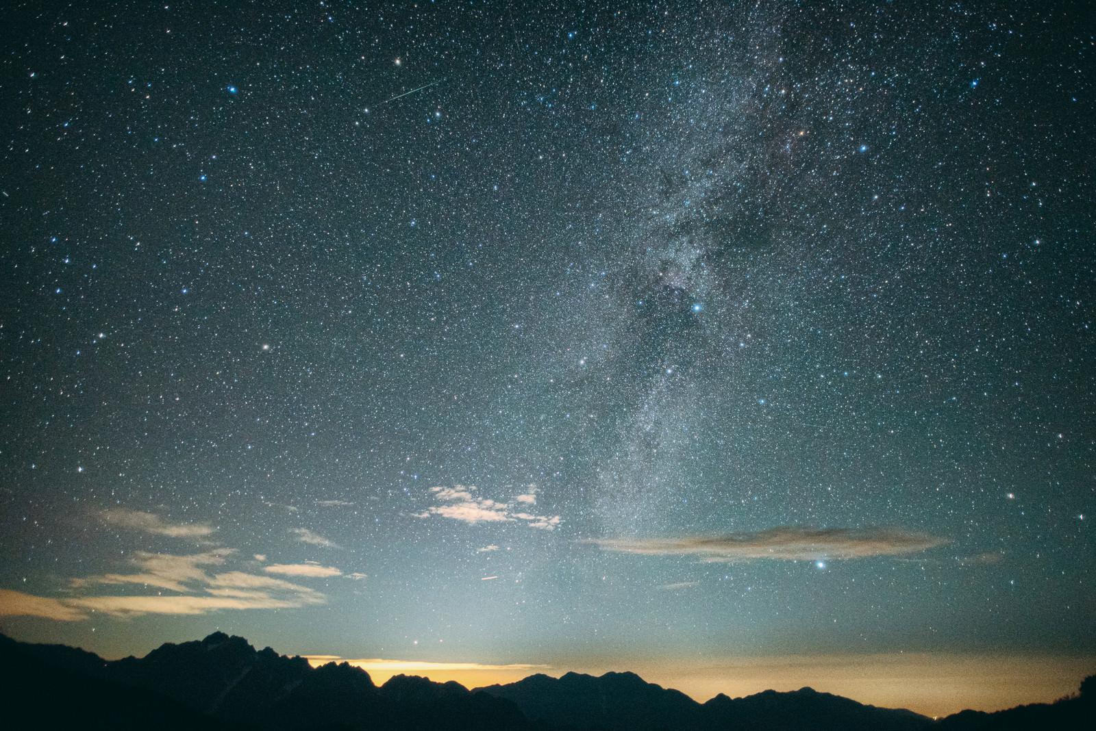 「天の川と流れ星」の写真