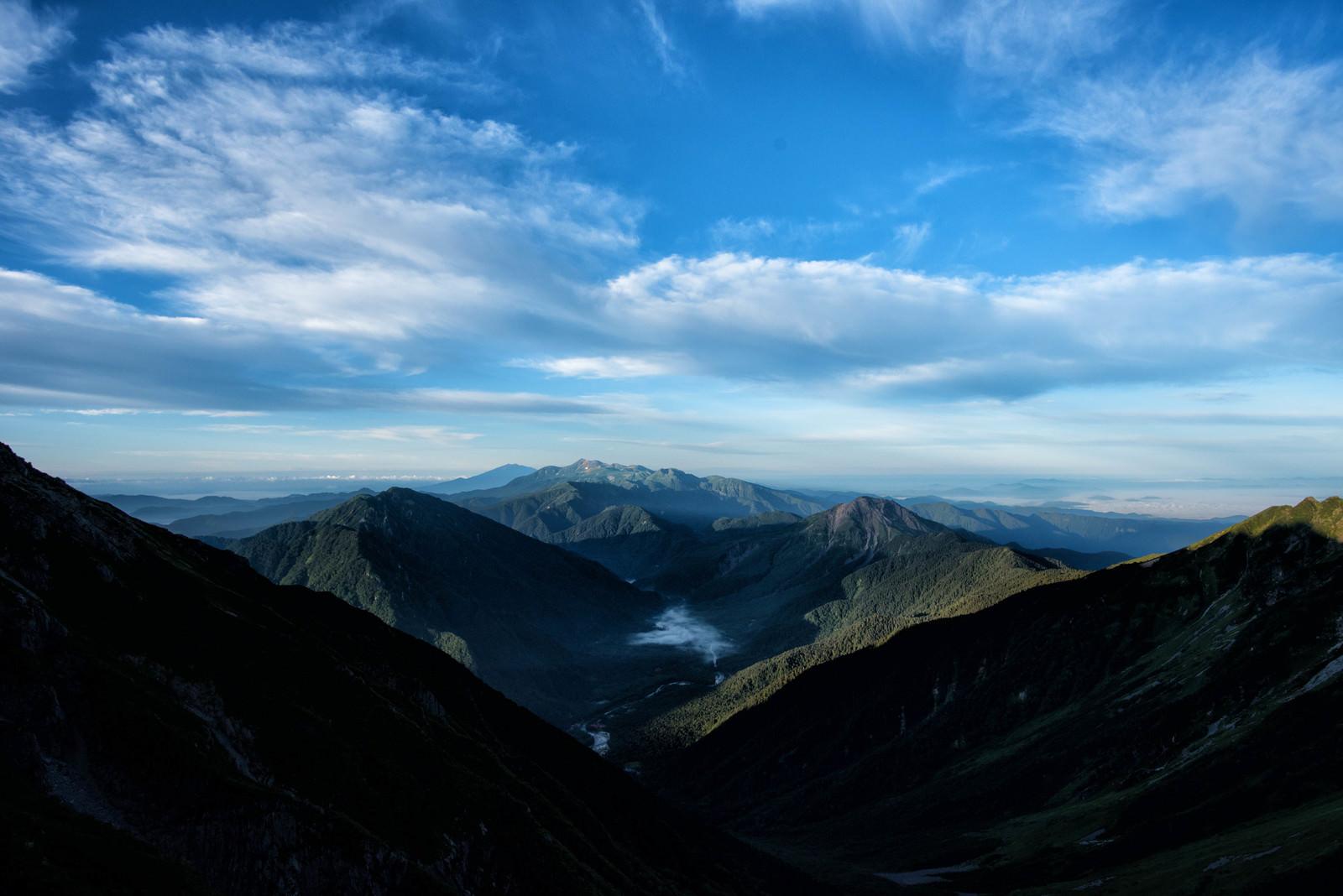「上高地を囲む山々の景色」の写真