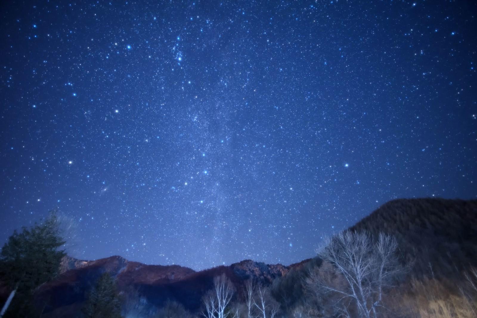 「乗鞍高原の星空乗鞍高原の星空」のフリー写真素材を拡大