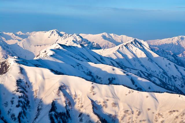 北アルプスの雪景色の写真