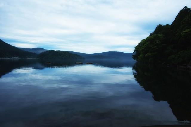 芦ノ湖のボートの写真