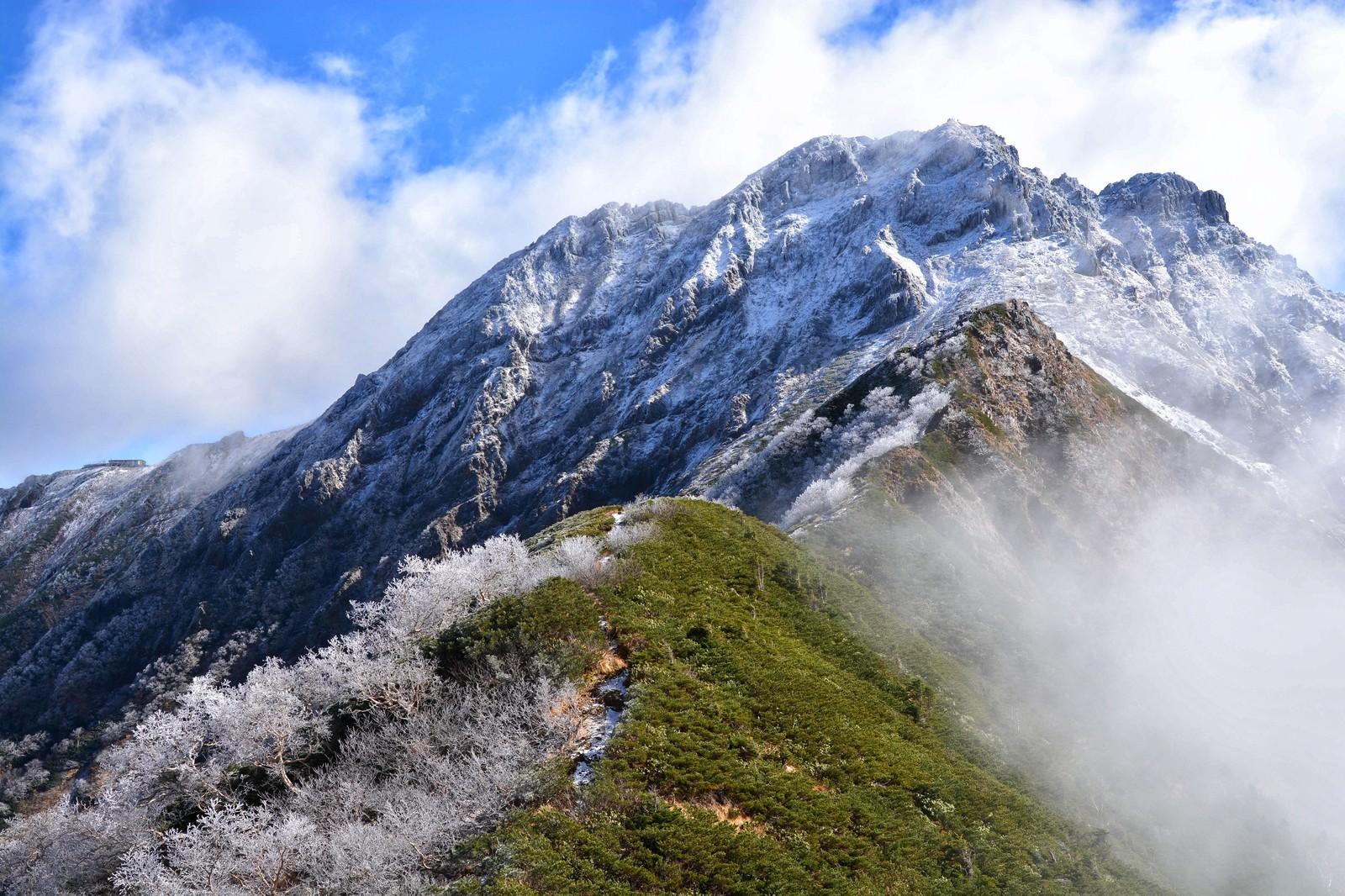 「赤岳の衣替え」の写真