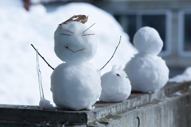 ニヒルな雪だるま