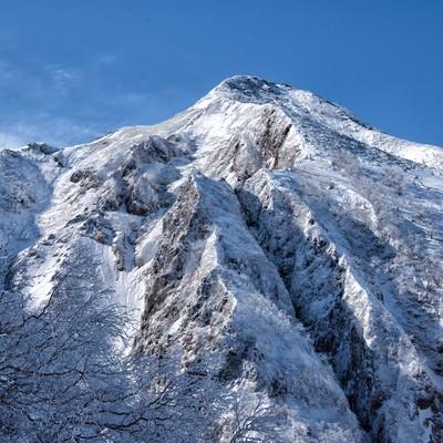 中岳北面の岩壁の写真