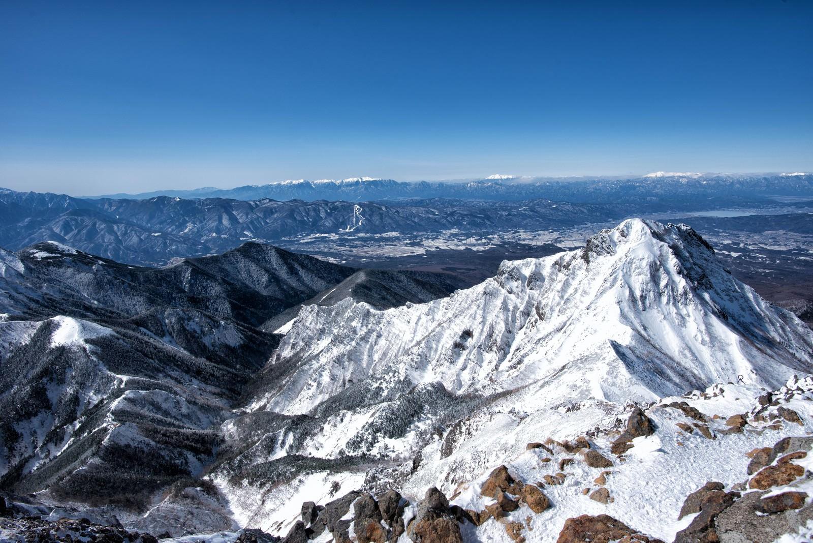 「赤岳山頂の展望」の写真