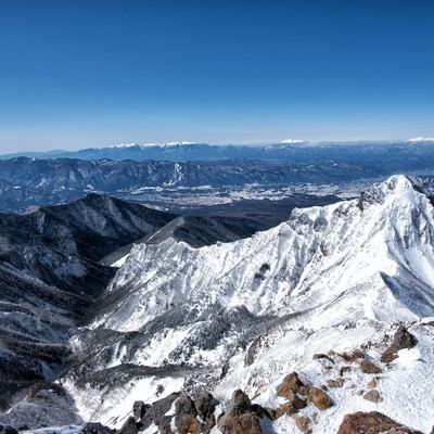 赤岳山頂の展望の写真