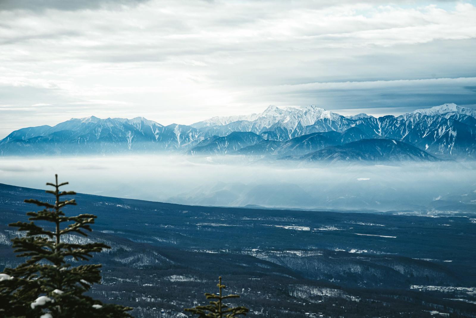 「初冬の南アルプス」の写真