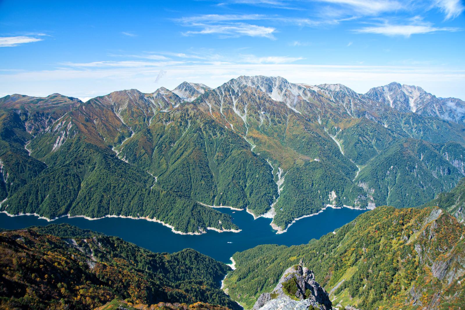 「針ノ木岳山頂から望む立山連峰」の写真