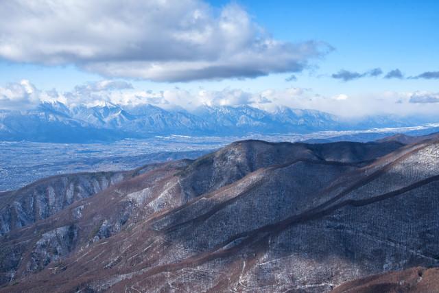 冬の美ヶ原の大パノラマの写真