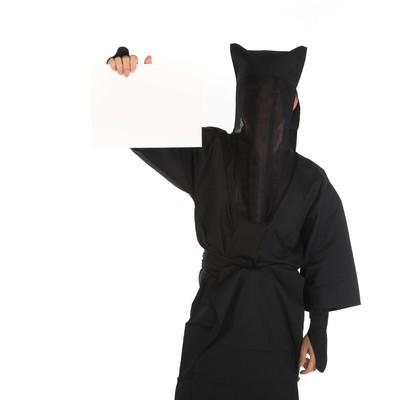 「カンペを持った黒子」の写真素材