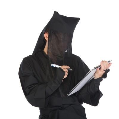 「黒子のアンケート」の写真素材