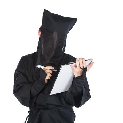 「匿名のチェックシート」の写真素材