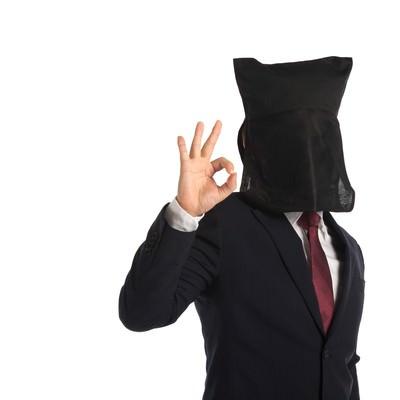 「匿名係長のOK」の写真素材