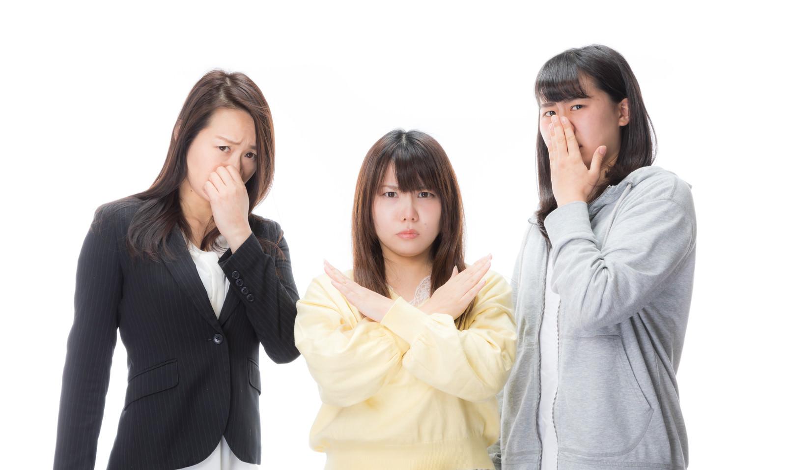 「不潔はダメゼッタイ不潔はダメゼッタイ」[モデル:Lala Mizuho 土本寛子]のフリー写真素材を拡大