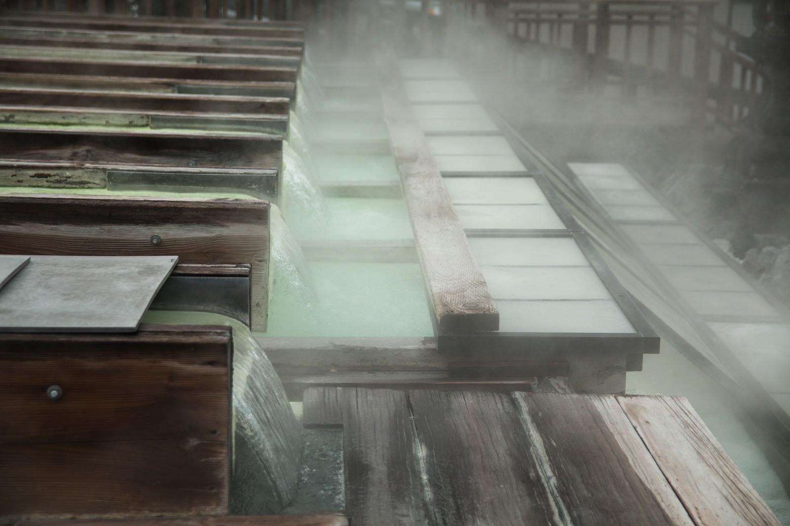 「草津温泉 湯樋」の写真