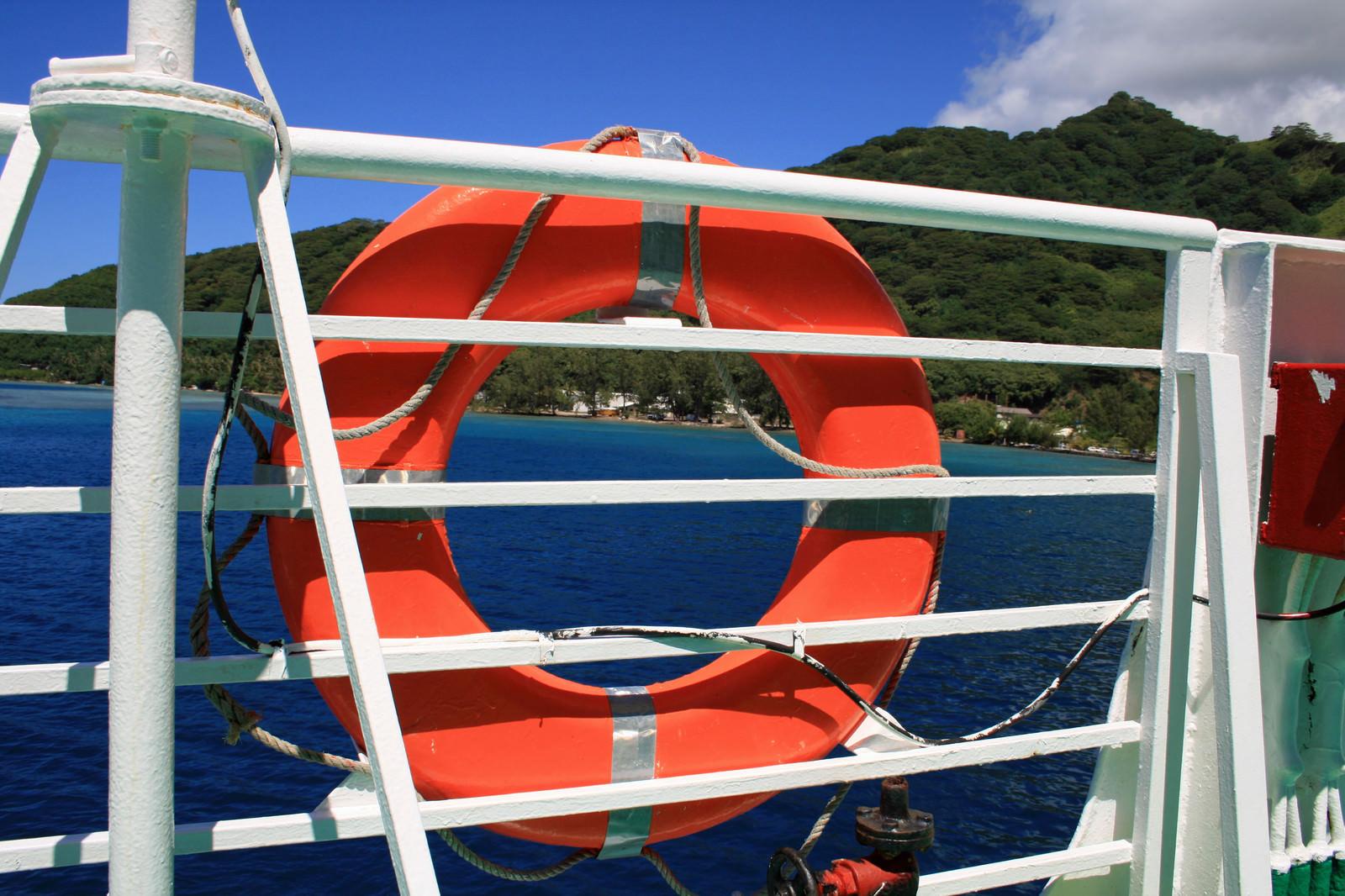 「救命浮き輪」の写真