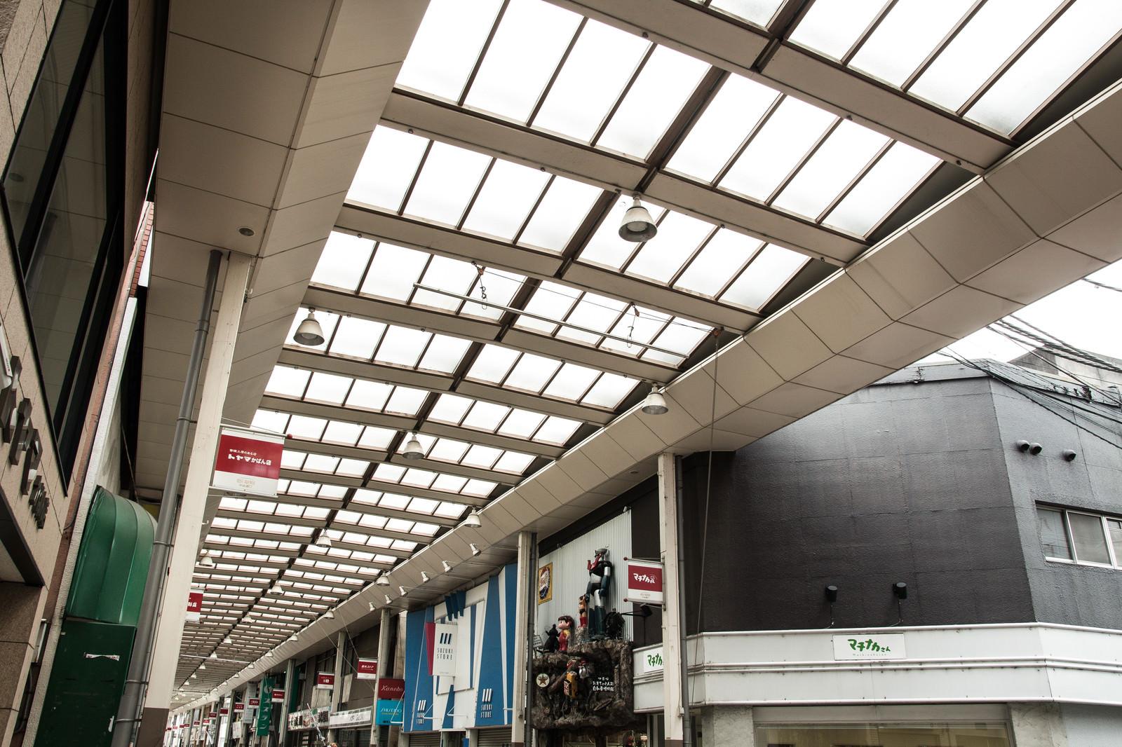 「前橋商店街のアーケード」の写真