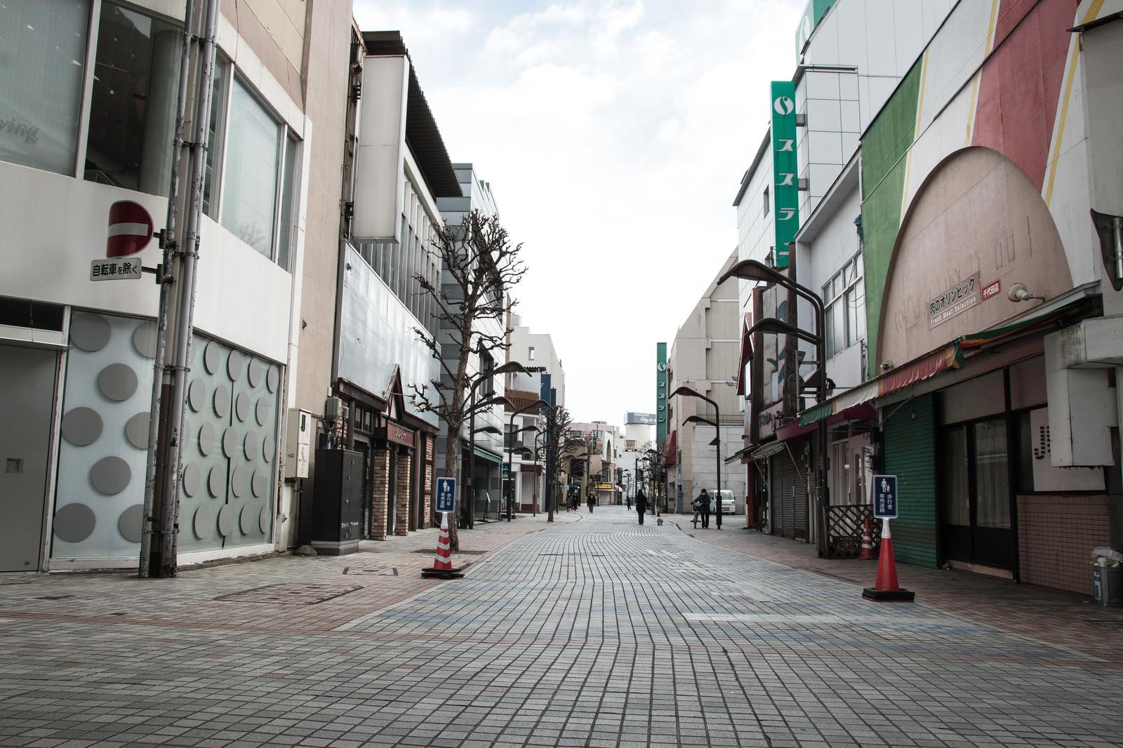 「朝早い前橋商店街」の写真
