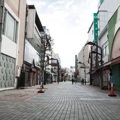 朝早い前橋商店街の写真