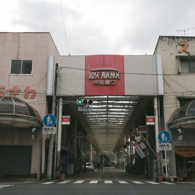 「前橋中心商店街の中央通り」の写真素材