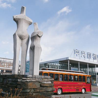 「中央前橋駅前のオブジェ」の写真素材