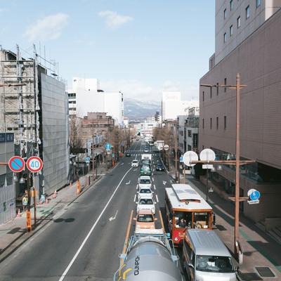 「前橋駅前の交通量」の写真素材
