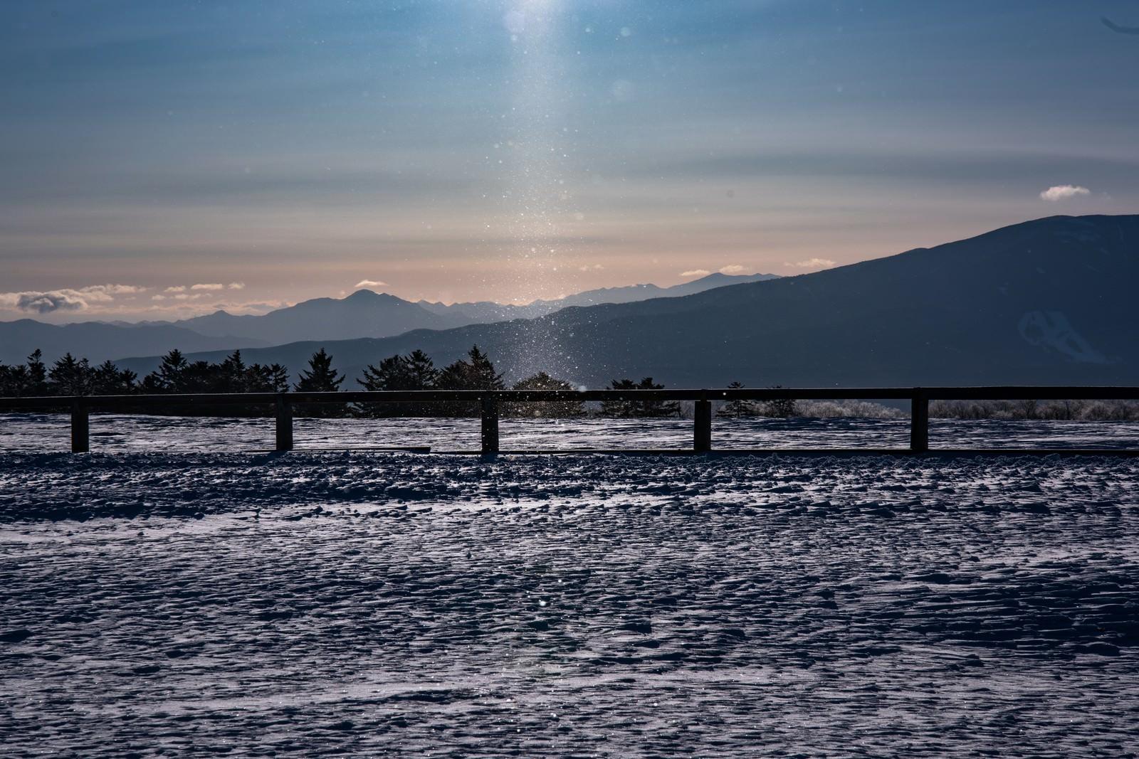 「美ヶ原高原のダイヤモンドダスト」の写真